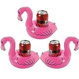 Aufblasbare Getränkehalter - 3 Stück Flamingo und 3 Stück Palme Island und 3 Stück Einhorn...