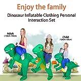 Shuibian Aufblasbarer Dinosaurier kostüm für Erwachsene / Kinder Halloween Party Cosplay Campus Eltern-Kind-Aktivitäten