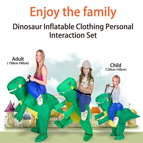 Shuibian Aufblasbarer Dinosaurier kostüm für Erwachsene / Kinder Halloween Party Cosplay Campus Eltern-Kind-Aktivitäten (Halloween Für Kinder Aktivitäten Für)