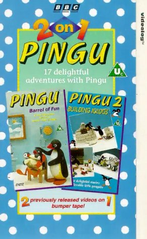 pingu-2-on-1-barrel-of-fun-building-igloos-vhs