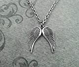 Angel Wings Necklace SMALL Angel Jewelry Wing Pendant Necklace Angel Necklace Memorial Gift Condolence Gift Sympathy Gift Memorial Necklace by Legendary