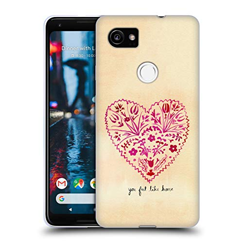 Price comparison product image Official Mai Autumn Folk Art Valentines Calligraphy Soft Gel Case for Google Pixel 2 XL