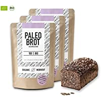 Organic Workout OW_003, Organic Workout PALEO-BROT-BACKMISCHUNG 3er Pack | 100% Bio | gluten-frei | low-er-carb | Eiweiss-Brot | clean-eating | Fitness-Brot | hefefrei | ohne Getreide | hergestellt in Deutschland