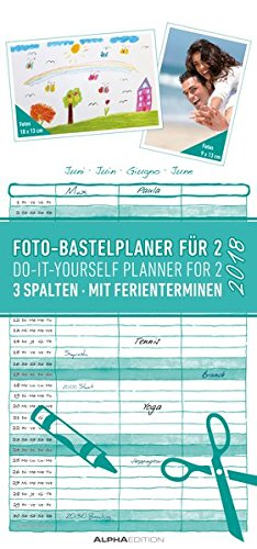 Foto-Bastelplaner 2018 für 2: Do it yourself-planner for 2