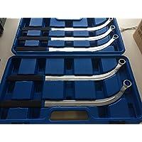 Jeu de clés plates métriques 5pièces–Clés à courroie trapézoïdale–Outil pour tendeurs et poulies