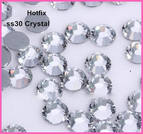 Flat Back 2028 4mm Crystal (PENVEAT 288pcs/Lot, ss30 (6.3-6.5mm) Crystal Iron On Rhinestones/Hot fix Rhinestones)