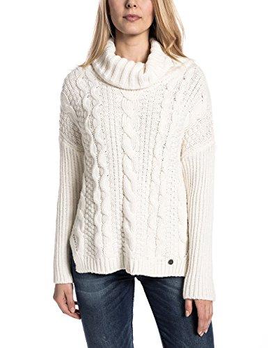 Timezone Brittatz, Pull Femme Blanc - Weiß (off white 102)