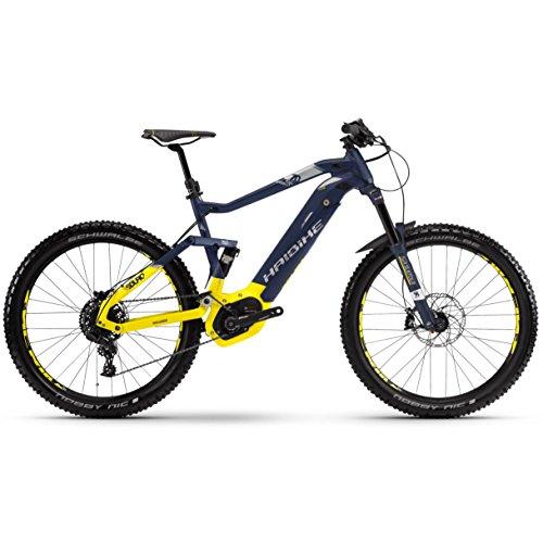 Haibike SDURO FullSeven LT 7.0 Bosch Intube Elektro Fahrrad 2018 (S/40cm, Blau/Citron/Silber matt)
