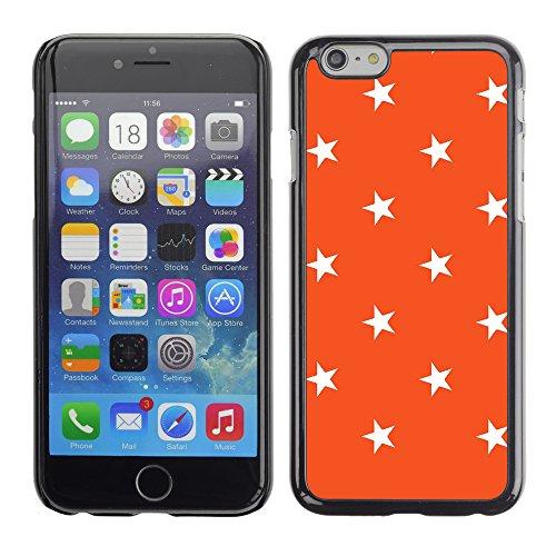 Graphic4You Sterne Muster Design Harte Hülle Case Tasche Schutzhülle für Apple iPhone 6 / 6S (Rosa) Orange