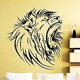 Haute Qualité Tête De Lion Sticker Mural Afrique Animaux Sauvages Décalque De Vinyle Home Room Décoration Intérieure Imperméable Mural 57X65CM