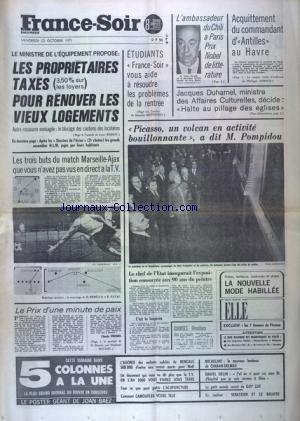FRANCE SOIR 8 EME EDITION du 22/10/1971
