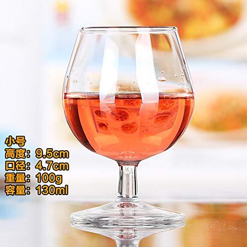 Luxury glass Brandy Cup Kurzer Fuß Rotwein Cup Glas Fine Cognac Cup Bleifrei Xo Wine Cup Bar Ktv 10, Trompete -130Ml