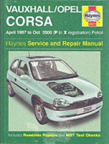 Vauxhall/Opel Corsa Service and Repair Manual: 1997 to 2000 (Haynes Service and Repair Manuals) por John S. Mead