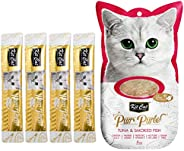 Kit-Cat Purr Puree Tuna & Smoked Fish Wet Cat Treat 4x15g