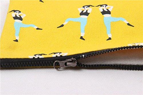 Venta Paga Con Paypal El Envío Libre De Calidad Para La Venta Longra Sacchetto del telefono mobile delle chiavi di cambiamento della tela di canapa di arte del tessuto delle donne Giallo Envío Libre El Más Barato La Venta De Bienes aXUPh37b