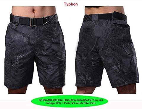 WorldShopping4U Military Combat Mens BDU 1/2 Short Pants Trousers Multi Pouch (TYP), L)