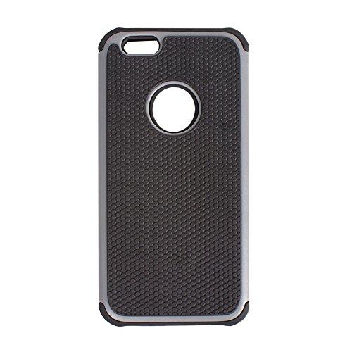 D9QHybridultradünnenCaseSiliconwiederCover Protector SkinsfürAppleIphone6 !!Gray
