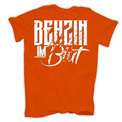 Männer und Herren T-Shirt CROSS - LAUT & DRECKIG (mit Rückendruck) Orange