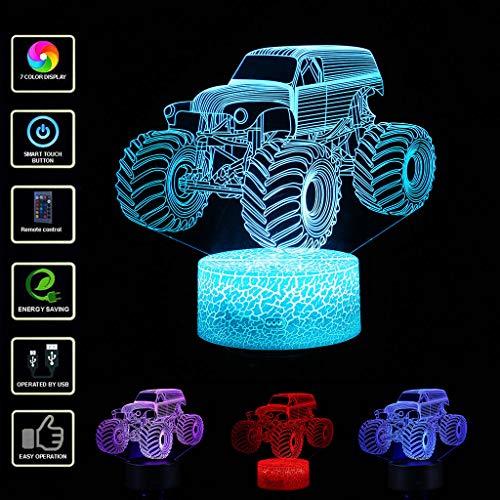 Veilleuses 3D Lampe Optique Illusion LED Enfant Lampe de Nuit pour Chambre Chevet Table de Fille Fils Cadeau Anniversaire Surprise Deco Ambiance Créatif avec Câble USB et Télécommande (Blanc)