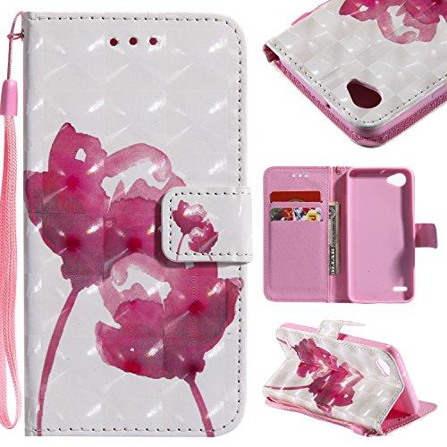 Hülle LG G6 mini, Handyhülle LG G6 mini Tasche Leder Flip Case Brieftasche Handy Schutzhülle für LG G6 mini (4)