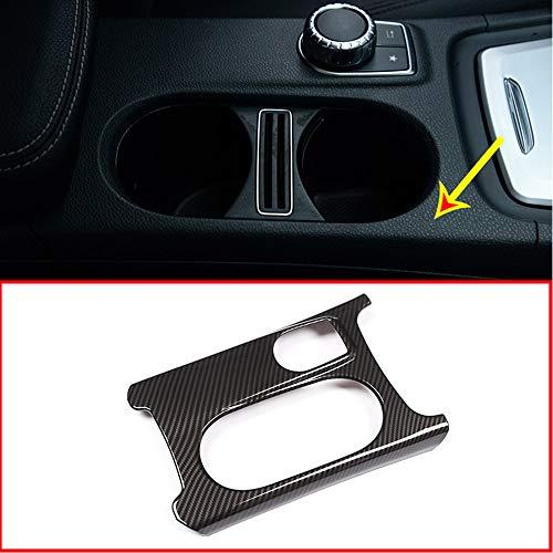Carbon ABS Chrom Cup Holder Cover Trim für Benz A/GLA/CLA Klasse C117 Faltenband zum W176 X156 2012-2018 Für Linkslenker
