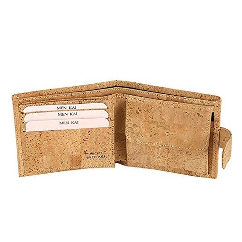 Wallet Portemonnaie Verschlussklammer Brosche 4362 UNISEX 100% Kork Beige - 2