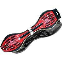 MAXOfit Pro XL 14022 Waveboard Jusqu'à 95 kg Sac inclus/roues lumineuses Rouge araignée 88 x 23 x 14 cm