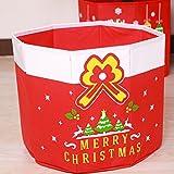 sunnymi 2018 Weihnachten Korb Aufbewahrungsbox Baby Kind Weihnachtsbeutel Süßigkeits-Beutel-Korb-Speicher-Werkzeug-Halter-Speicher-Dekoration-Verzierung (33*37cm, Rot)