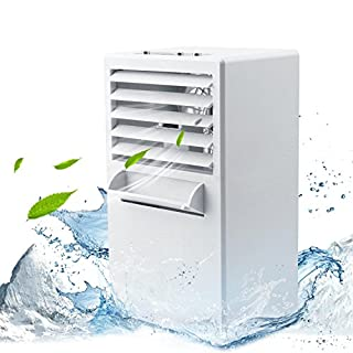 AIKER Air Cooler Mini Portable Air Conditioner Fan Noiseless Evaporative Air Humidifier for Room Office Desktop Nightstand