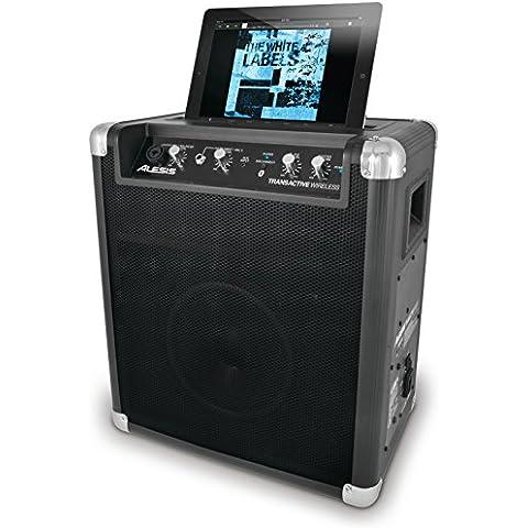 Alesis TransActive Wireless Cassa Portatile Amplificata senza Fili, con Bluetooth, Batteria Ricaricabile, Porta USB e Supporto iPad - Alesis Amplificatore
