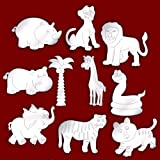 Bundle of 10 Etched Jungle Themed Mirrors for Childrens Bedroom Decoration * SUMMER SALE *
