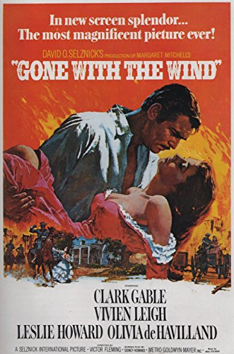 Vom Winde verweht - Gone with the Wind (1939) | US Import Filmplakat, Poster [68 x 98 cm] (Alten Hollywood-poster)