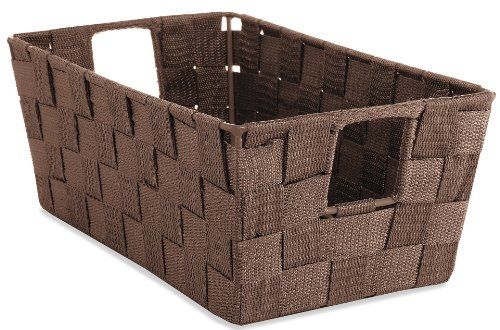 Whitmor 6581-2712 Woven Strap Small Shelf Tote, Espresso by Whitmor (Espresso-speicher-körbe)