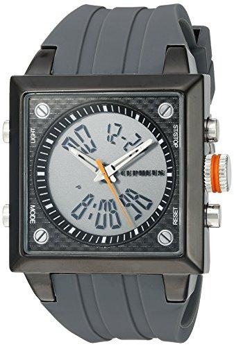 CEPHEUS - CP900-622B - Montre Homme - Quartz Analogique et Digitale - Bracelet Silicone Gris