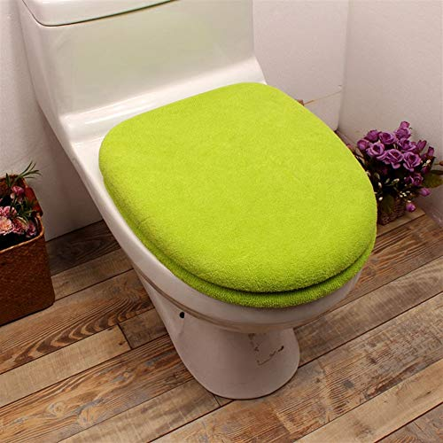 HZC Toilettensitzabdeckung Badezimmer Fest Farbe verdickte Warmer Toilettendeckel Abdeckung Pad (Farbe : B)