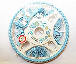Cloudaby High Quality Baby Circular Shaped Hanger, Hanging Dryer Clothes, Drying Hanger Rack with 20 Clips (Pack of 1)