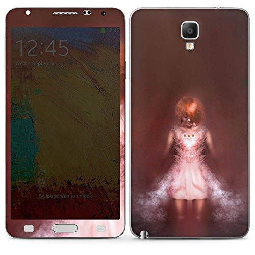 Samsung Galaxy Note 3 Neo Case Skin Sticker aus Vinyl-Folie Aufkleber Mädchen im Dunkeln (Halloween Costums Mädchen Für)