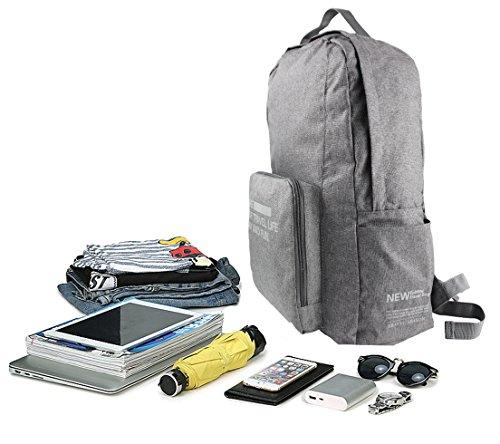 donne e uomini nuova borsa da viaggio impermeabile pieghevole zaino multifunzione grande capacità borse di stoccaggio, Black Grey
