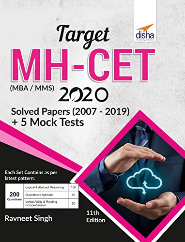 TARGET MH-CET (MBA / MMS) 2020 - Solved Papers (2007 - 2019) + 5 Mock Tests 11th Edition