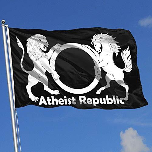 yukaiwei1 Flagge Gartenflaggen Atheist Republic Symbol 3x5 Feet Decor Banner