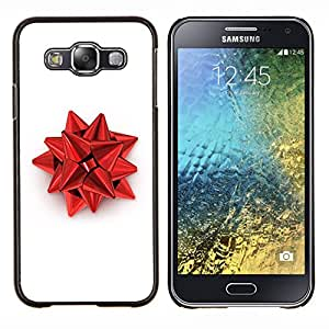 Omega Covers - Snap on Hard Back Case Cover Shell FOR SAMSUNG GALAXY E5 - Red Christmas Decoration