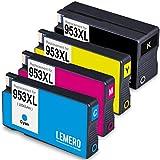 LEMERO Kompatibel Druckerpatronen für HP 953 XL 953XL für HP OfficeJet Pro 8210 8218 8710 8715 8718 8719 8720 8725 8728 8730 8740 7720 7720 7740 wf All-in-One ( 4 Pack, Schwarz Cyan Magenta Gelb )