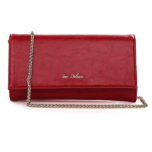 Damen Clutch Rot Luxury Fashion Tasche Abendtasche Paris Z4Owqg