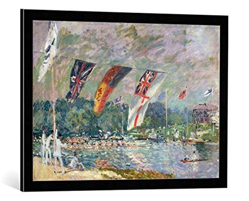Kunst für Alle Cuadro Marco: Alfred Sisley Les regates