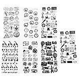 Life Imprint Tagebuch-Sticker Student Kreative Briefumschläge Album-Dekoration, Aufkleber DIY Schwarz und Weiß, Dekoratives Tagebuch Scrapbook 6 Stück/Set