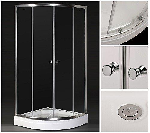 Home Deluxe Duschkabine | Drop | inkl. Duschtasse und Glasaufsatz | Verschiedene Größen | 80 x 80 cm (Drop Deluxe)
