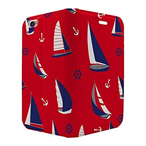 Nautical Sail Boat Collage Full Flip Case Cover For Apple