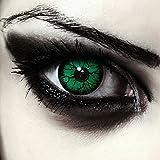 Lentillas de color verde para Halloween monstruo lentillas sin dioprtías / corregir + gratis caso de lente 'Bioshock'