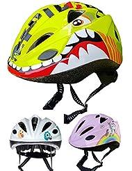 Skullcap® Casco Niño Bicicleta ♥ disenado por los niños ♥, Dino