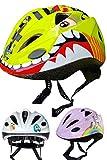 SkullCap Casco de Bicicleta para niños diseñado por Profesionales - Casco de Bicicleta para niños, Infantil, Color Dino, tamaño M (52-56 cm)